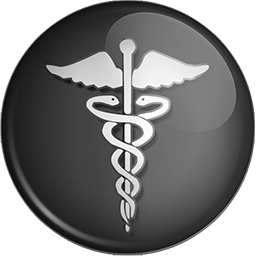 256x256 caduceus medicine symbol button