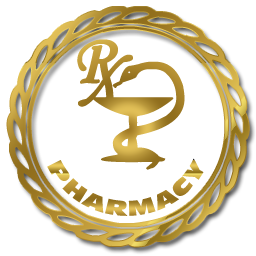 256x256 Pharmacy symbol gold gradient