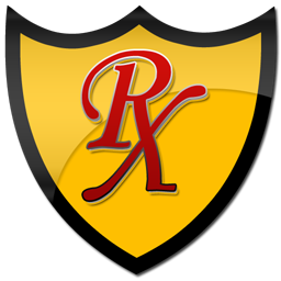 256x256 Red rx yellow shield clipart