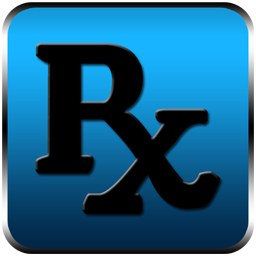 256x256 Rx logo pharmacy symbol black