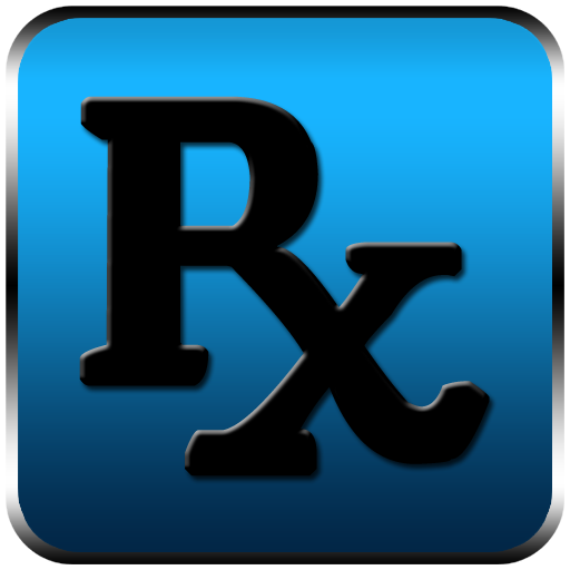 Rx logo pharmacy symbol black