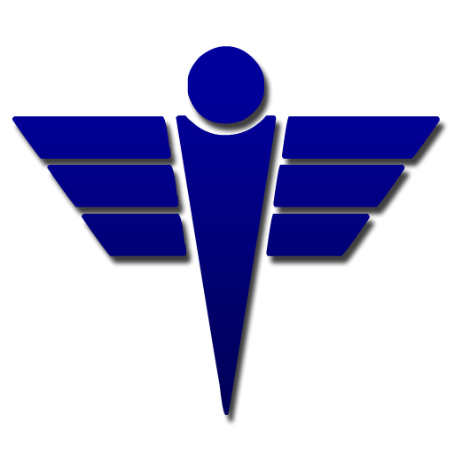 Simple medical caduceus