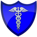 caduceus blue shield