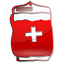 intravenous solution bag red