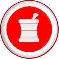 thumb 128x128 Mortar pestle pharmacy symbol red button